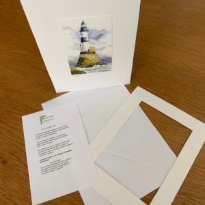 Lighthouse gift card white mount and envelope inserts