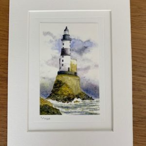 Lighthouse gift card and white mount