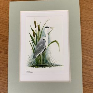 Heron gift card and light green mount