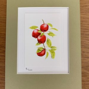 Apple Picking gift card and white mount
