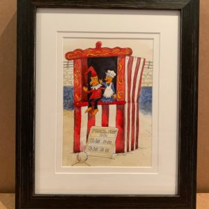punch and judy That's The Way To Do It original watercolour