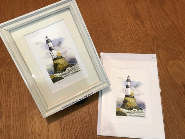 Lighthouse gift card mount and envelope