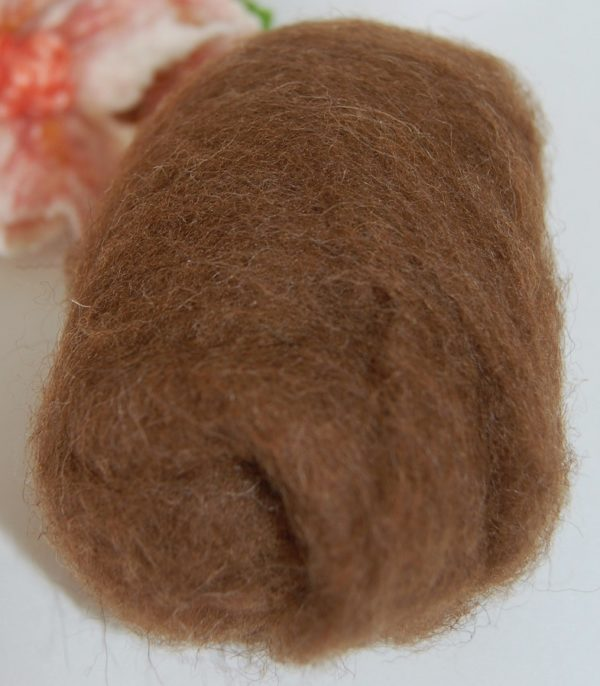 Natural brown colour fibre for hares