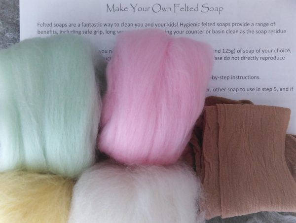 Felted Soap Kit Contents