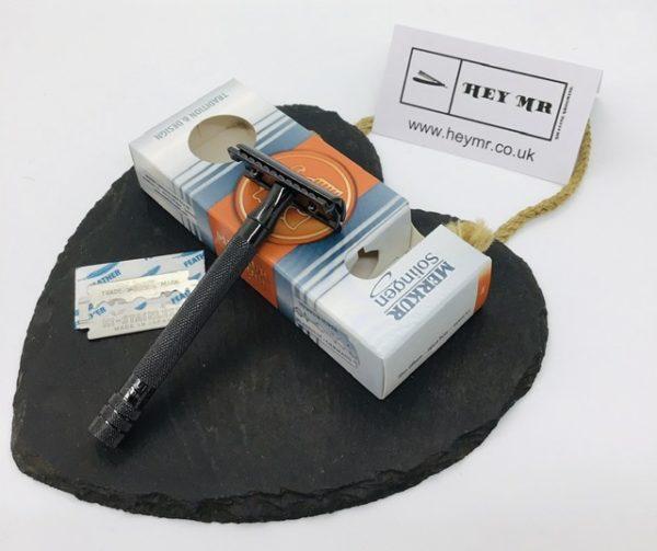 Black Double Edge Merkur Razor gift box