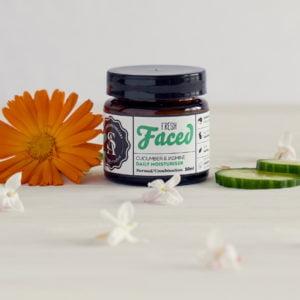 Fresh Faced Moisturiser, Cucumber & Jasmine, The Sage Apothecary, Normal & Combination Skin, Vegan Skincare, Young & Teenage Skin, Sensitive Skin
