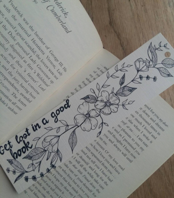 Hand Drawn Floral Bookmark