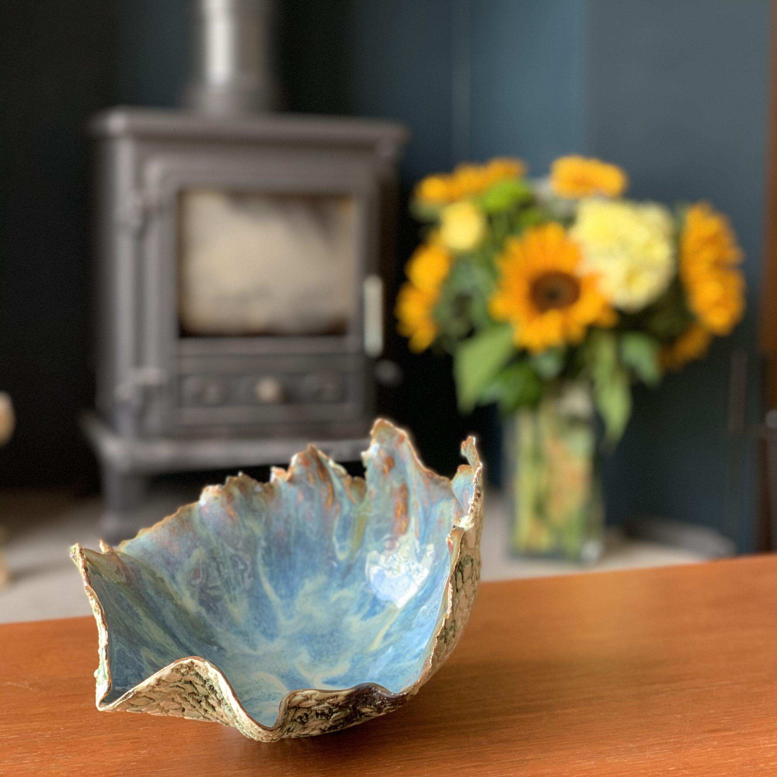 Lace Imprinted Porcelain Bowl