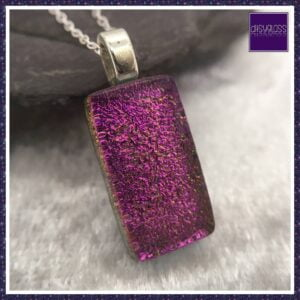 Pink Dichroic Glass Pendant