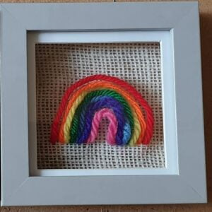 Scruffy Dog creations, Mini Rainbow Frame