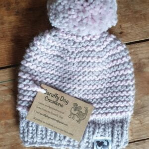 Scruffy Dog Creations, Bobble Hats,Baby Hat, Baby Girl