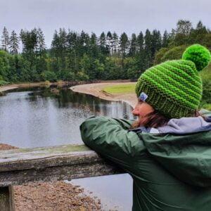 Scruffy Dog Creations, Bobble Hats, Greens Garter, River
