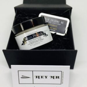 Heymr moisturiser and solid cologne gift box