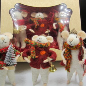 Festive felt mice
