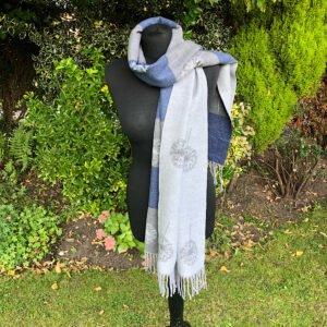 grey dandilion rersible cashmer blend scarf