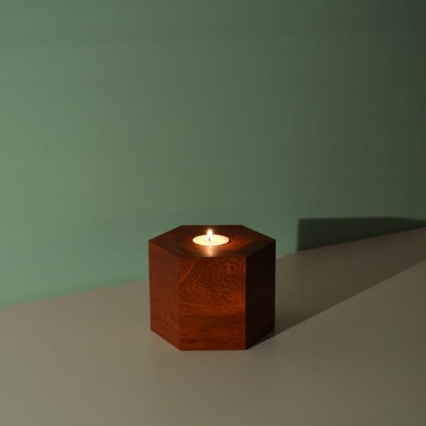 hexagonal wood vases utile