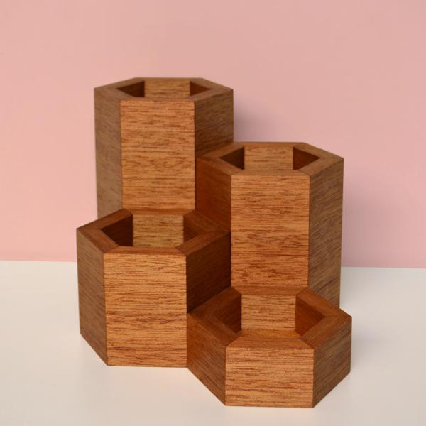 hexagonal vase collection shorea