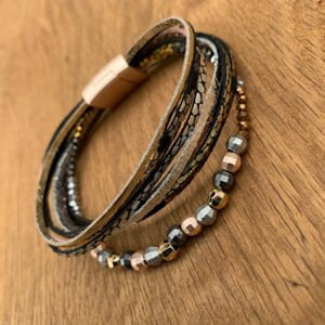 Beaded Multistrand Magnetic Bracelet.