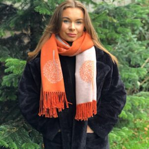 orange reversible scarf