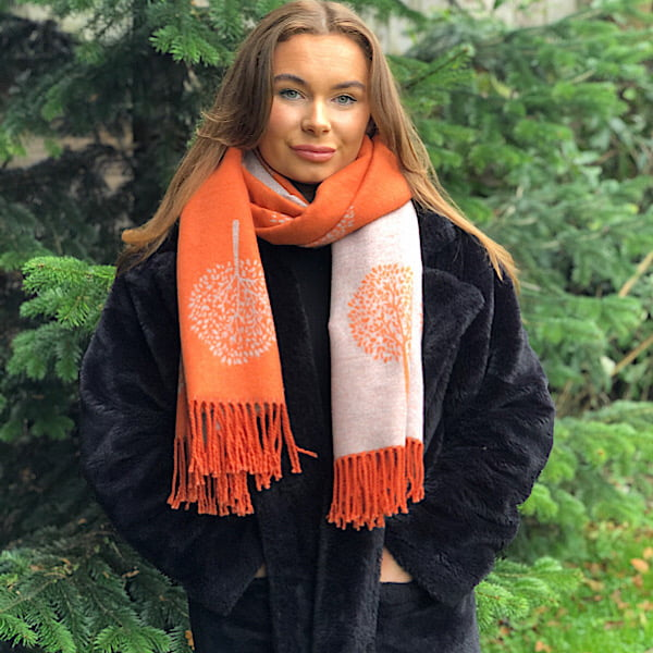 orange reversible scarf