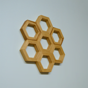 honeycomb wall art ash