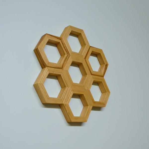 honeycomb wall art ash