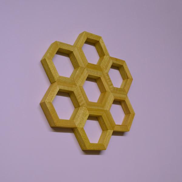 honeycomb wall art idigbo