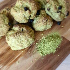 Matcha vegan scones