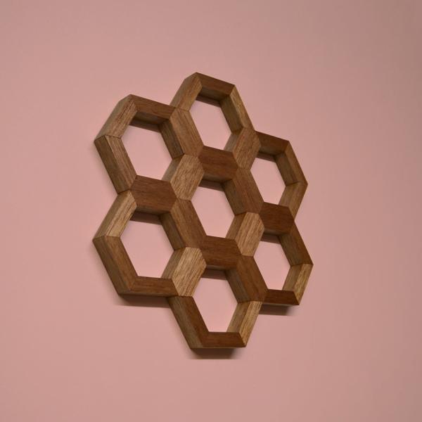 honeycomb wall art shorea