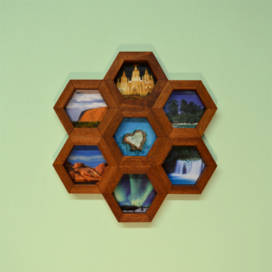 honeycomb wall art utile