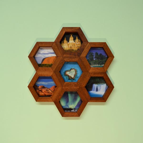 honeycomb wall art utile