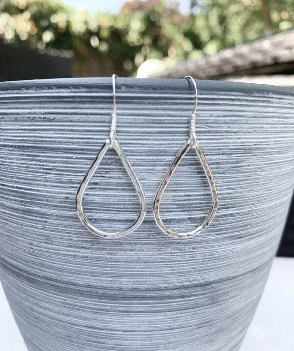 Silver teardrop earrings