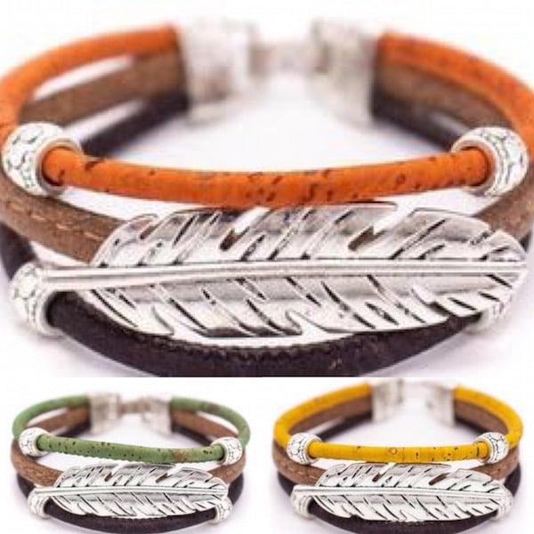 Cork Leaf Bracelet