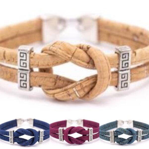 Cork Infinity Knot Bracelet