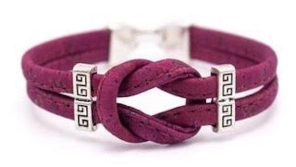 Cork Red Infinity Bracelet
