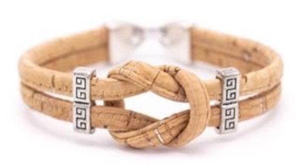 Cork Natural Infinity Bracelet