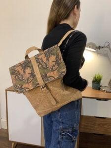 Cork Laptop Backpack floral