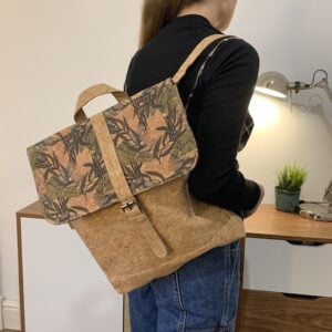 Cork Laptop Backpack floral