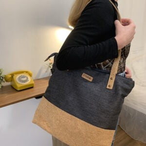 Cork and Cotton Tote Bag