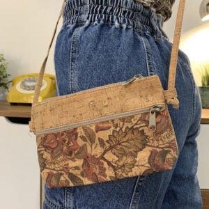 Cork Crossbody Bag Leaf