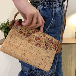 Cork Crossbody Bag Flower