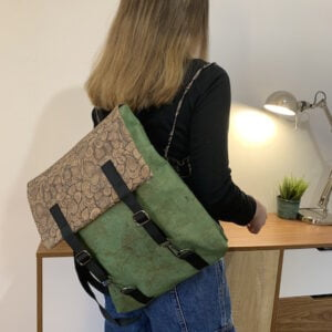 Green Cork Backpack