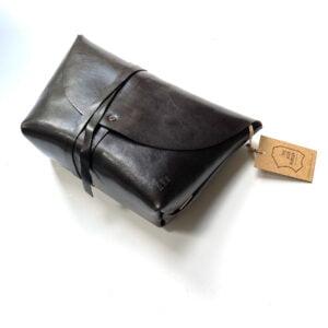 Handmade Leather Bag with Wraparound Fastening