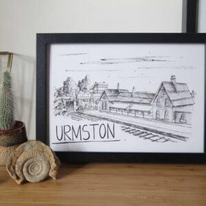 Urmston Skyline Art Print